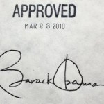 ObamaCare signature of Obama on bill