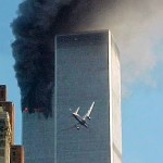 Plane flying into Twin Tower
