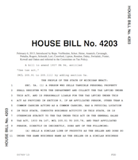 Michigan H.B. 4203 Main Street Fairness; a bill to amend the Use Tax Act