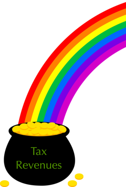 Tax revenue pot of gold at end of revenue