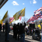 TPEX Rally with flags
