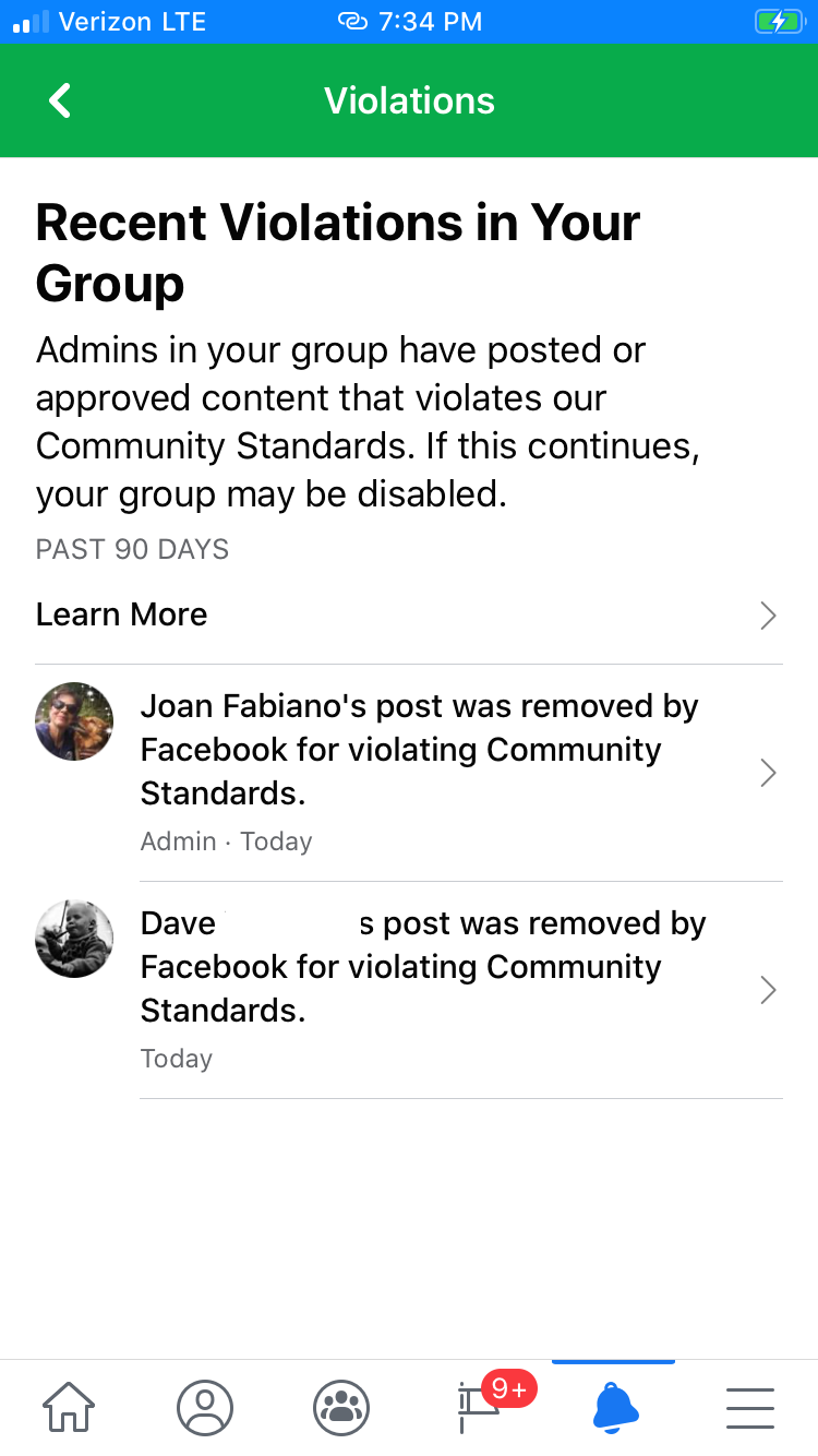 Group diaabled post