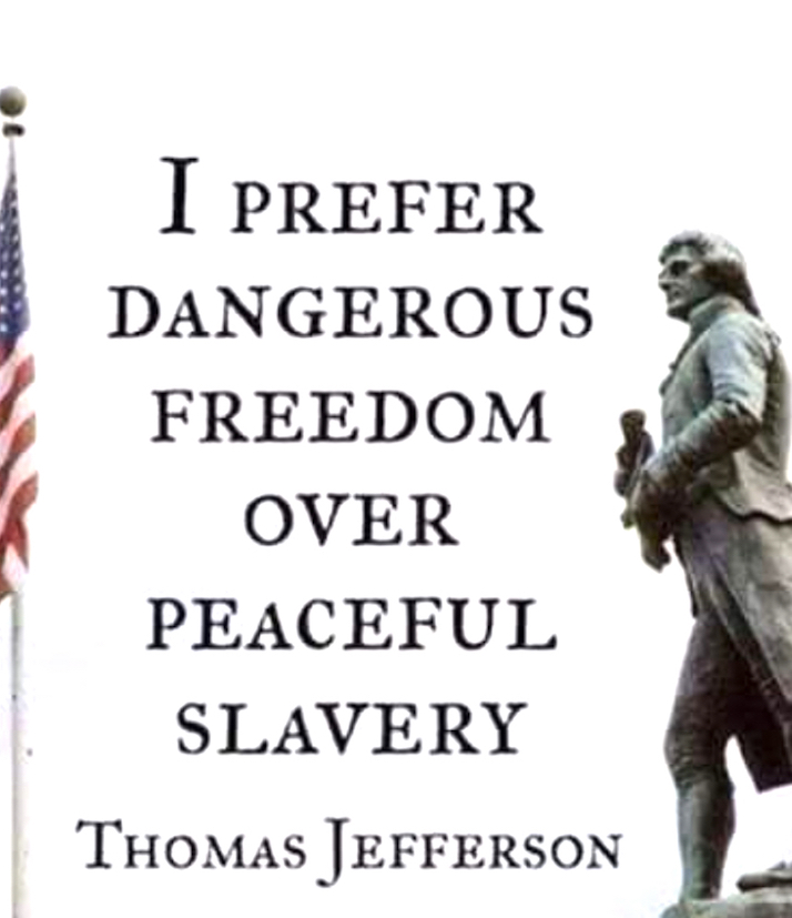 Dnagerous freedoms to slavery